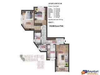 Apartament 3 camere Dristor 2,imobil 2018
