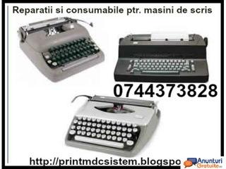 Reparatii si riboane masini de scris, cu executie rapida
